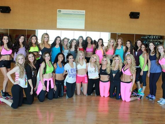 2015 Miss Nevada USA and Miss Nevada Teen USA Contestants Enjoy a Zumba Class during the 2015 Miss Nevada USA Orientation at Life Time Athletic Summerlin