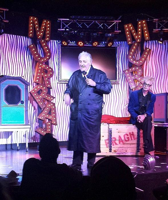 British Comedian Lenny Windsor visits MURRAY 'Celebrity Magician' at Planet Hollywood in Las Vegas