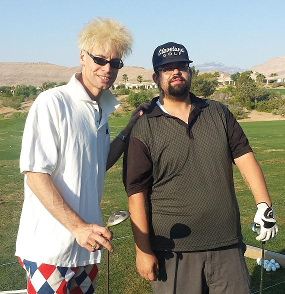 Murray SawChuck playing golf with Daniel Coryell