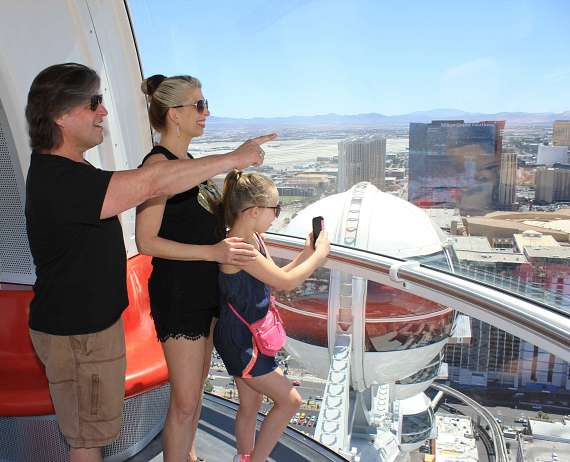 Bucky Heard of Righteous Brothers Takes in the Views of Las Vegas from Atop the High Roller