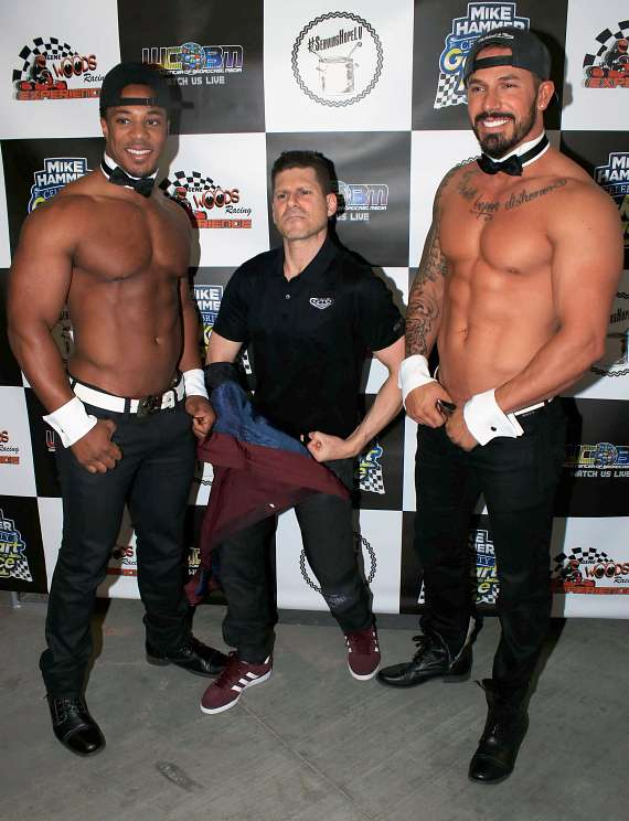 Mike Hammer (c) with Chippendales