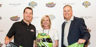 Interstate Batteries and Race Car Driver Kyle Busch Present Lagasse's Stadium with a Signed Racing Helmet