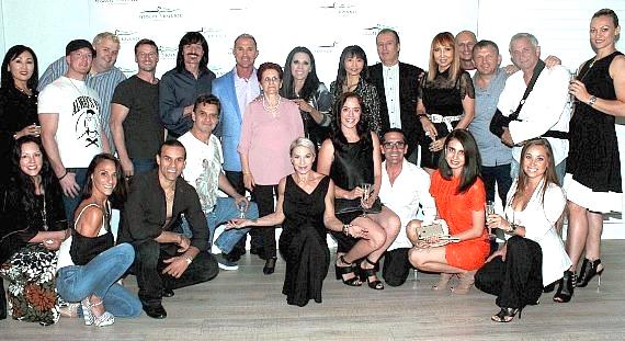 Owners, staff and guests at Absolute Balance Studios in Las Vegas