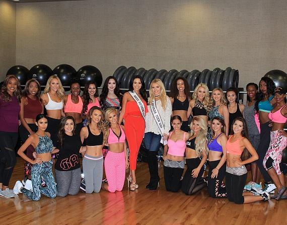 2017 Miss Nevada USA and Miss Nevada Teen USA contestants at the 2017 Miss Nevada USA Orientation at Life Time Athletic Green Valley