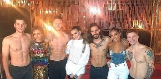 Multi-Platinum Female Group Little Mix Attends Magic Mike Live at the Hard Rock Hotel & Casino Las Vegas