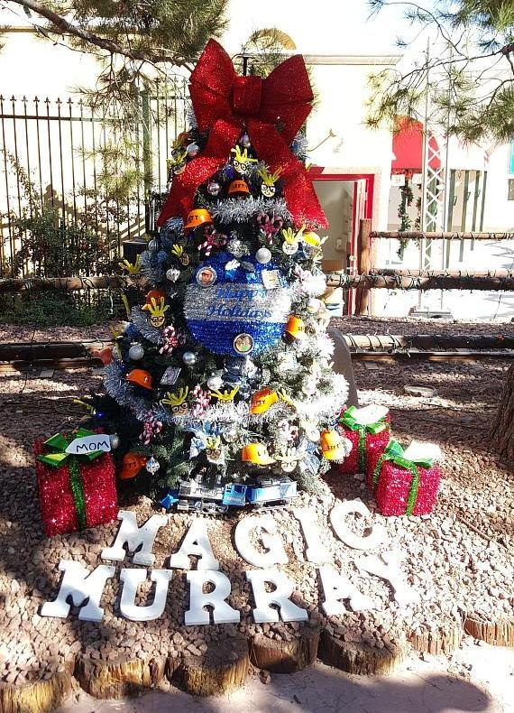 Murray SawChuck's Christmas tree at the Magical Forest