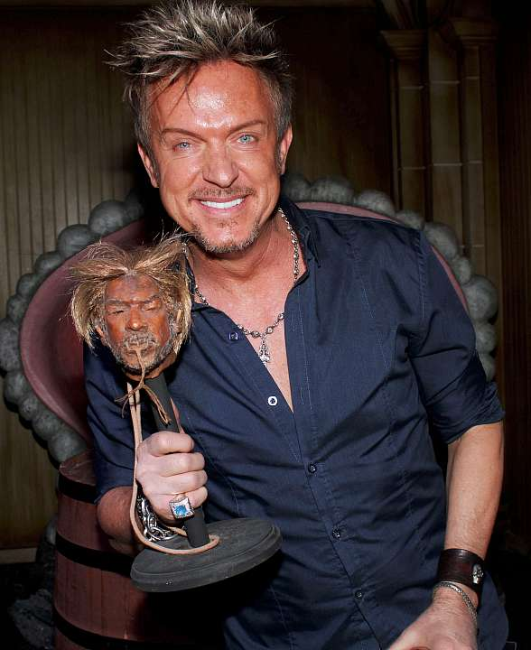 Chris Phillips of Zowie Bowie Unveils His Shrunken Head at The Golden Tiki in Las Vegas