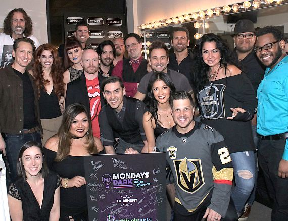 Photo Gallery: Mondays Dark Benefit for Positively Arts Foundation on May 21 with Mark Shunock,