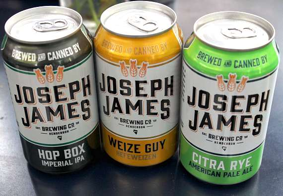 Luke's serves Joseph James beer which is brewed in nearby Henderson, NV.