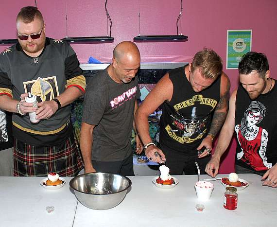Tenors or Rock and Brett Raymer make Rockin' Poppin' Doughnut Sundaes