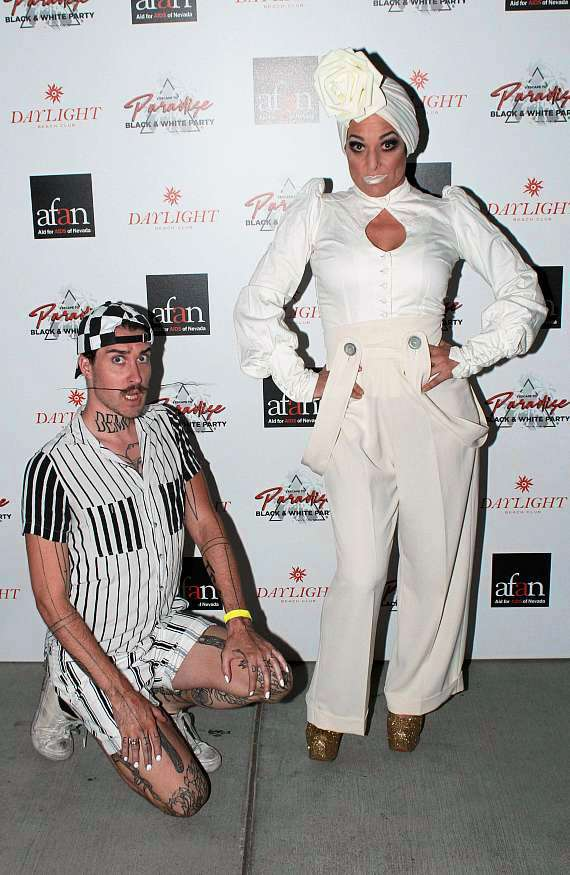 Miss Behave and Andrew Ryan at AFAN Black & White Party