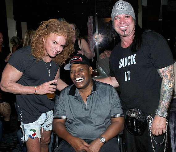 Carrot Top, Michael Goddard and Leon Spinks