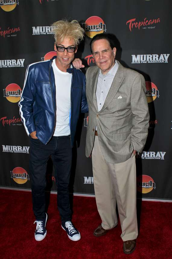 "Murray SawChuck and Impressionist Rich Little at ""Murray the Magician"""