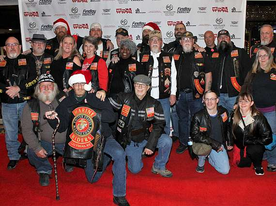 """Marine Corps Riders at """"Toys for Tots"""" Charity Benefit in Las Vegas"""