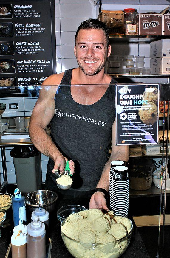 Chippendales Help Doughp Celebrate Grand Opening In Miracle Mile Shops at Planet Hollywood Las Vegas