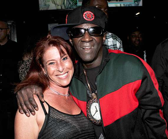 """Heather King of """"Tanked"""" with Flavor Flav at Club 172 at The Rio Las Vegas"""