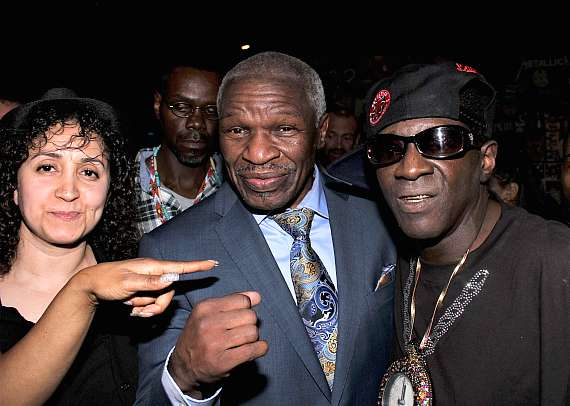 Floyd Mayweather. Sr. with Flavor Flav at Club 172 at The Rio Las Vegas