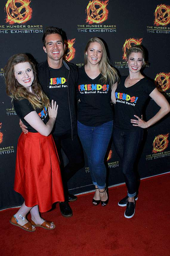 """Cast og """"Friends: The Musical Parody"""" at The Hunger Games grand opening"""
