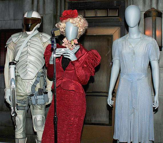 Costumes at The Hunger Games: The Exhibition grand opening