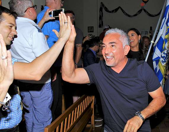 Cesar Millan celebrates the grand opening of his new at Hofbrauhaus Las Vegas