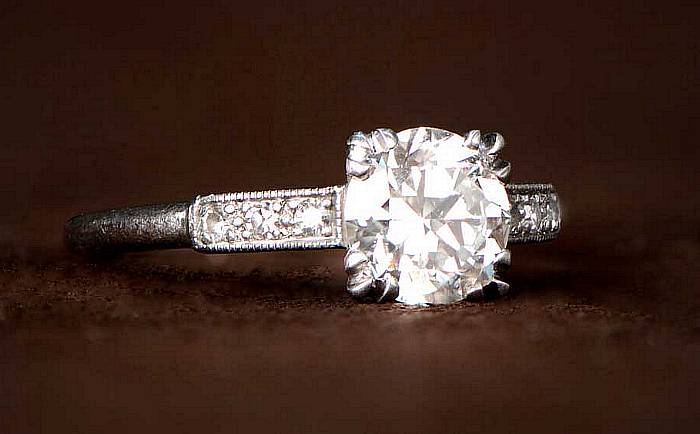 Art Deco Diamond Old European Cut Ring