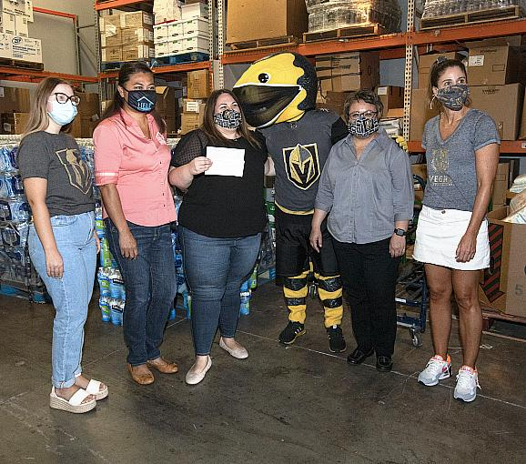 Vegas Golden Knights Foundation Donates $5,000  to Benefit Help of Southern Nevada