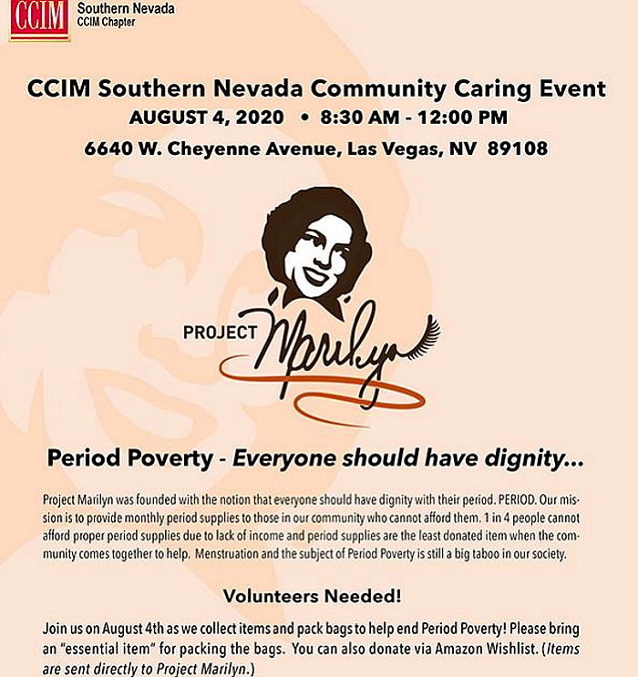 Southern Nevada CCIM Chapter Hosts Community Caring Project with Non-Profit, Project Marilyn