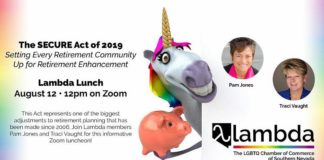Lambda Lunch, August 12 on Zoom, to Discuss The SECURE Act of 2019