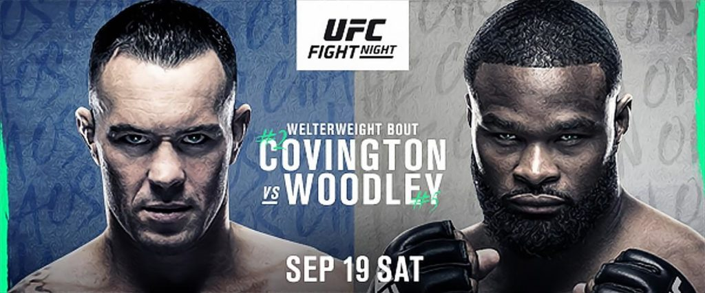 Welterweight Grudge Match Between (#2) Colby Covington and (#5) Tyron Woodley at UFC Apex