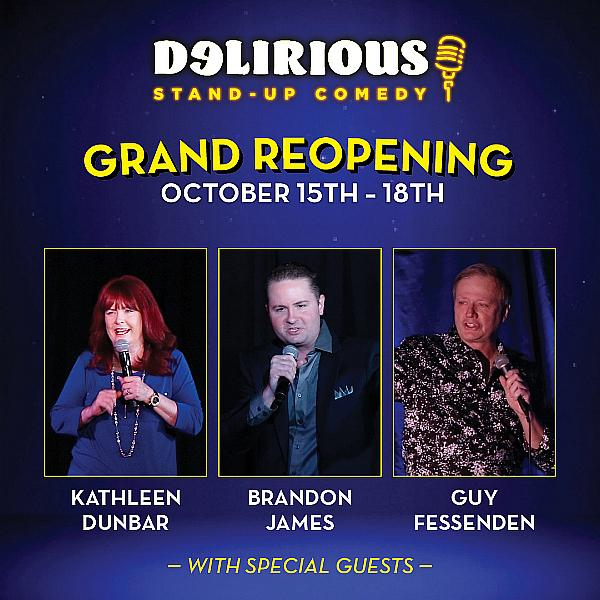 The Delirious Comedy Club Returns to Downtown Grand  Hotel & Casino with a Laugh-Out-Loud Lineup, Oct. 15