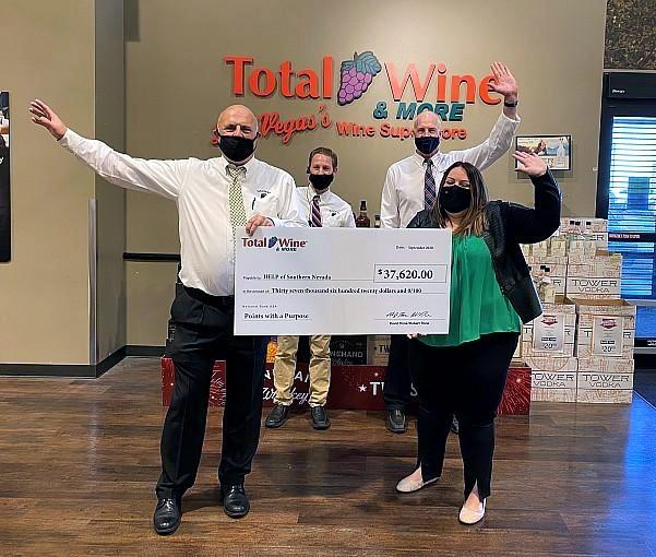 HELP of Southern Nevada Received Generous Donation from Total Wine & More, Oct. 2