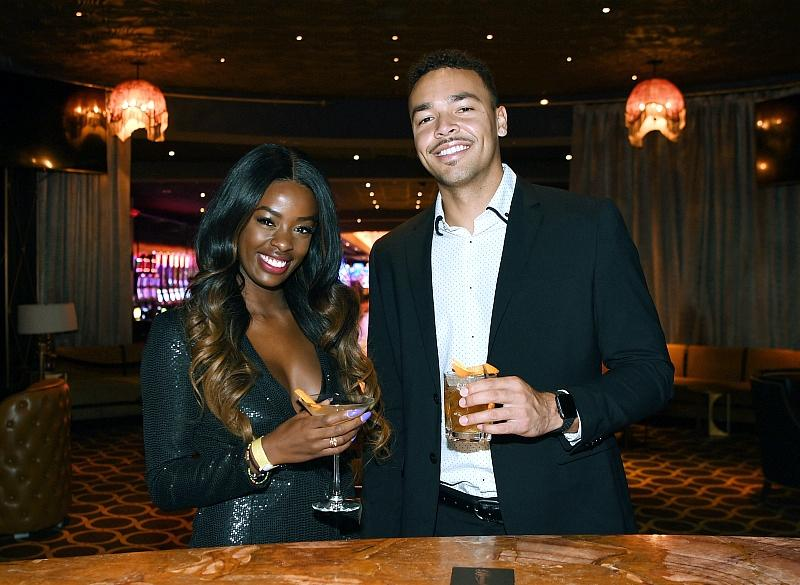 """Love Island"" winners Justine Ndiba and Caleb Corprew returned to Las Vegas to help reopen The Cromwell"