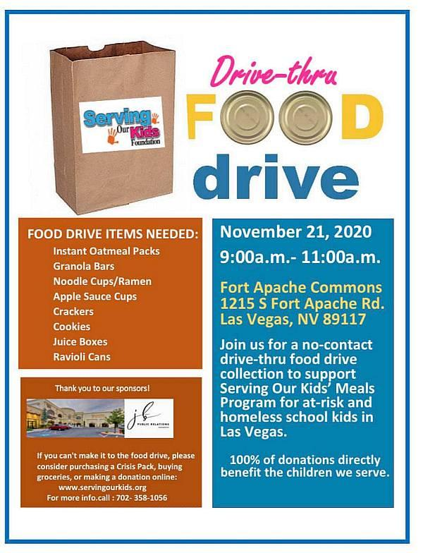 Santa to Collect Food at Fort Apache Commons with Contactless Food Drive for Serving our Kids Foundation, Nov. 21