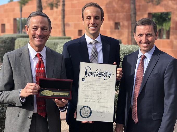 YESCO Receives Key To The Las Vegas Strip In Honor Of 100th Anniversary