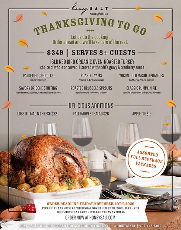 Honey Salt Offers Thanksgiving To-Go