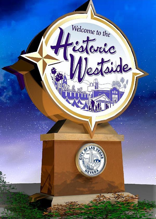 Installation Set For New Historic Westside Monument Signs On Martin L. King Boulevard At U.S. 95 Off-Ramps