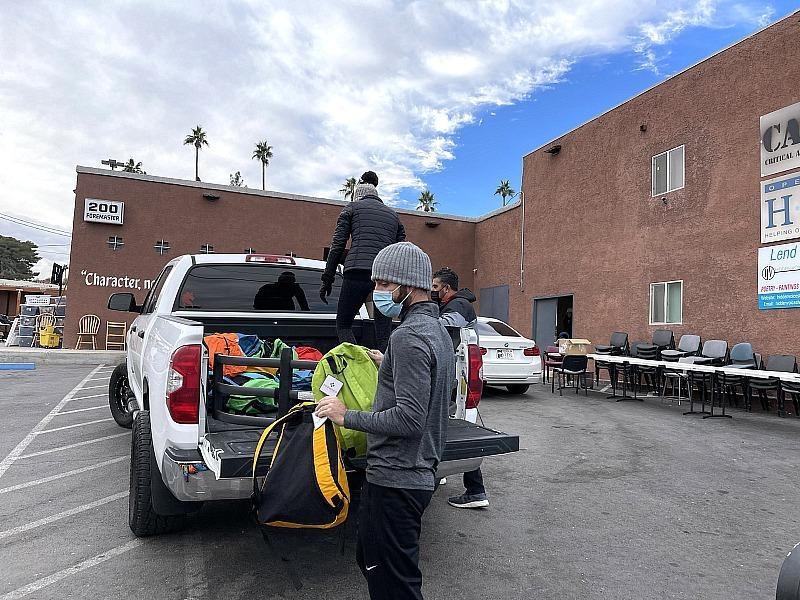 HomeAid Southern Nevada Distributes Backpacks with Essential Items, Benefitting Hundreds in the Homeless Community