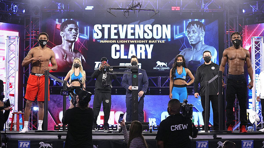 Weigh-In Results: Shakur Stevenson-Toka Kahn Clary Set to Headline ESPN Telecast from MGM Grand Bubble