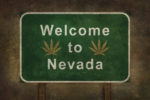 Welcome,To,Nevada,With,Cannabis,Leaf,Road,Sign,Illustration,,With