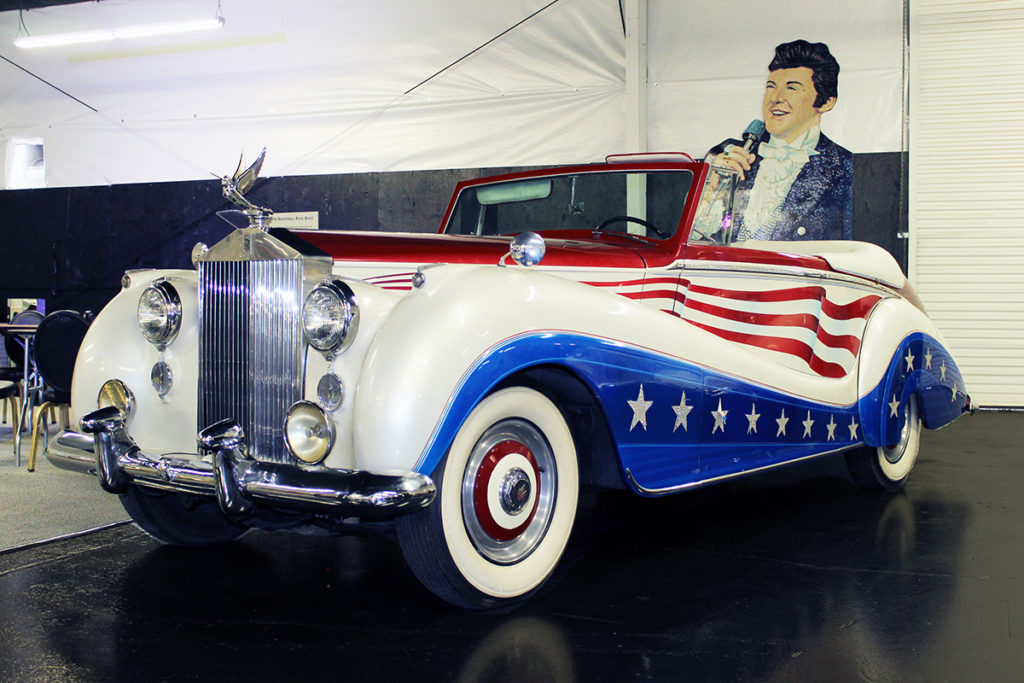 Liberace's Rolls Royce at the Hollywood Car Museum in Las Vegas