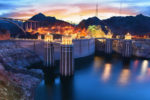 Evening,View,Of,The,Hoover,Dam,In,Boulder,,Nevada,,Usa