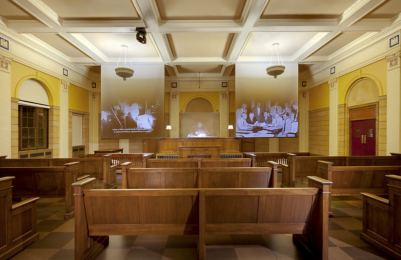 Courtroom inside the Mob Museum