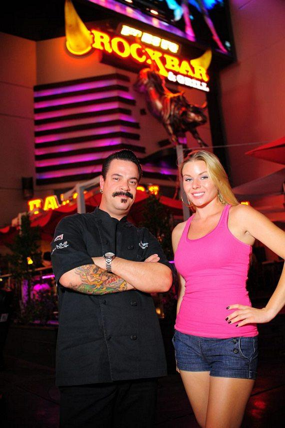 "Chef Mike Minor and Christina ""CC"" Christensen at PBR Rock Bar in Las Vegas"