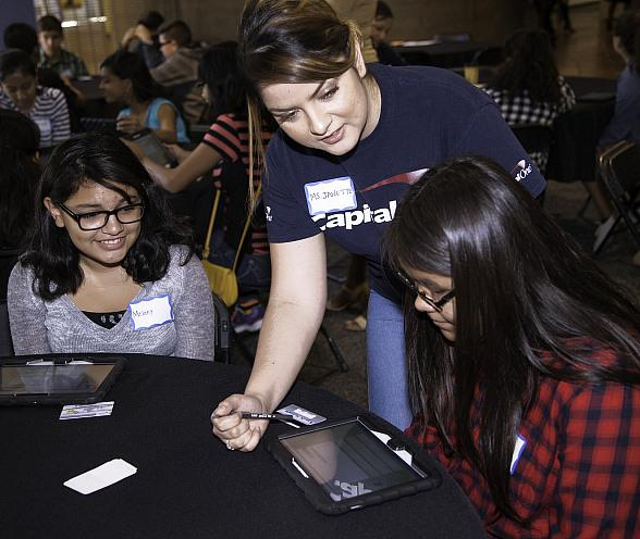 J.D. Smith Middle School 8th Graders and Junior Achievement of So. Nevada Celebrate Launch of JA Finance Park 2015