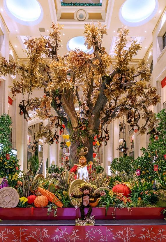 The Venetian and The Palazzo Las Vegas Debut Chinese New Year Display at The Waterfall Atrium and Gardens