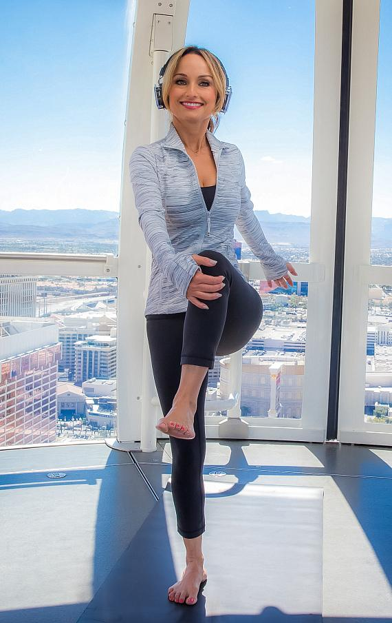 Chef Giada De Laurentiis Attends Yoga in the Sky at The High Roller Observation Wheel