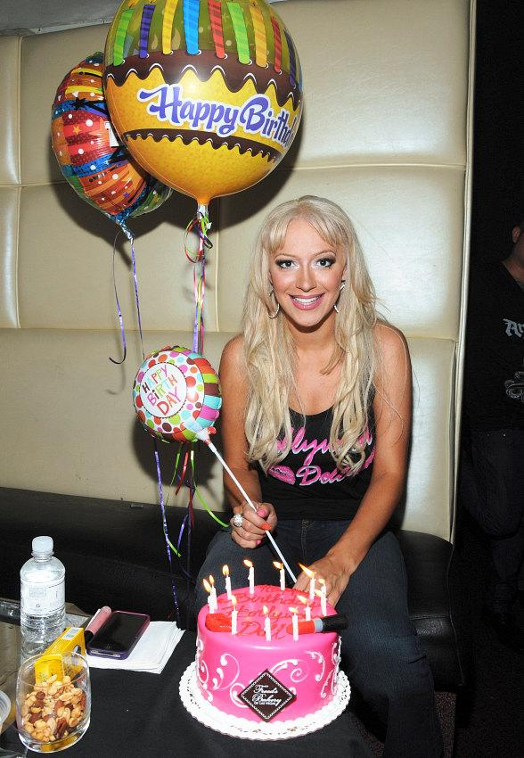 Former Pussycat Doll Kaya Jones celebrates birthday at Krave