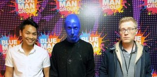 """Actor Anthony Rapp from Broadway Musical """"Rent"""" Attends Blue Man Group Las Vegas"""