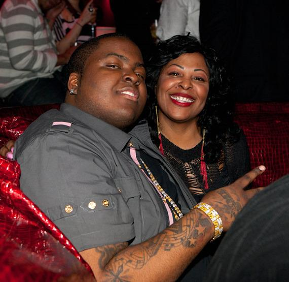Sean Kingston and his mom at Tryst Nightclub