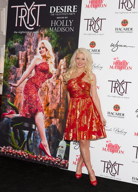 Holly Madison celebrates Valentine's Day at Tryst Nightclub